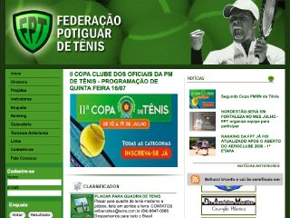 Thumbnail do site Federação Potiguar de Tênis