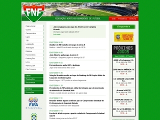 Thumbnail do site FNF - Federação Norte-rio-grandense de Futebol