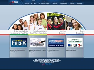 Thumbnail do site FACEX - Faculdade de Ciências, Cult. e Extensão do RN