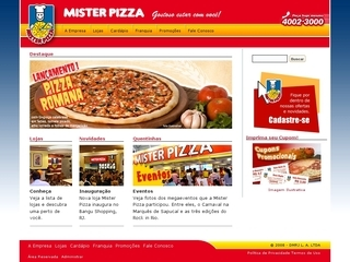 Thumbnail do site Mister Pizza