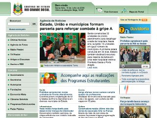 Thumbnail do site Governo do Estado de Rio Grande do Sul