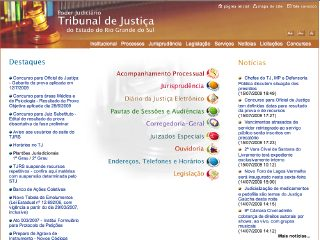 Thumbnail do site Tribunal de Justiça do Estado do Rio Grande do Sul