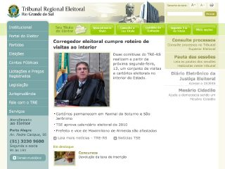 Thumbnail do site Tribunal Regional Eleitoral do Rio Grande do Sul