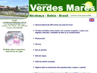 Thumbnail do site Pousada Verdes Mares