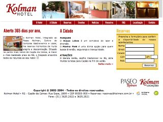 Thumbnail do site Kolman Hotel