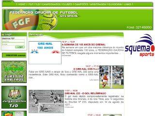 Thumbnail do site FGF - Federação Gaúcha de Futebol