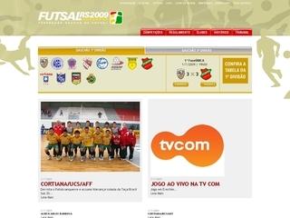 Thumbnail do site Federação Gaúcha de Futebol de Salão