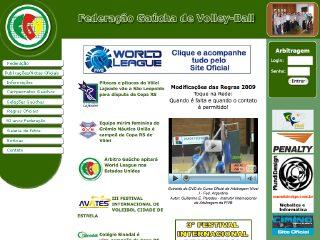 Thumbnail do site FGV - Federação Gaúcha de Volley-Ball