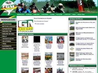 Thumbnail do site FGM - Federação Gaúcha de Motociclismo