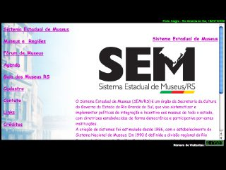 Thumbnail do site SEM/RS - Sistema Estadual de Museus