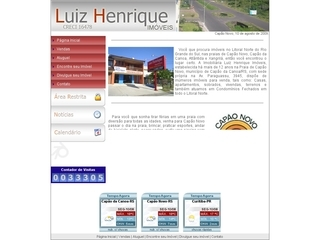 Thumbnail do site Imobiliária Luiz Henrique