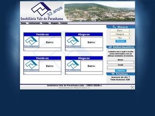 Thumbnail do site Imobiliária Vale do Paranhama