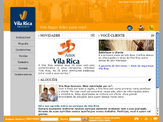 Thumbnail do site Imobiliária Vila Rica