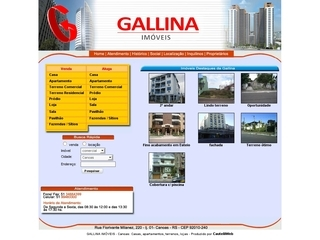 Thumbnail do site Gallina Negócios Imobiliários Ltda.