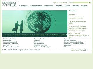 Thumbnail do site Demarest & Almeida Advogados