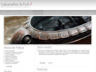 Thumbnail do site Cabanellos Schuh Advogados Associados