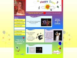 Thumbnail do site Happy Days Mensagens