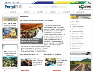 Thumbnail do site Governo do Estado de Roraima