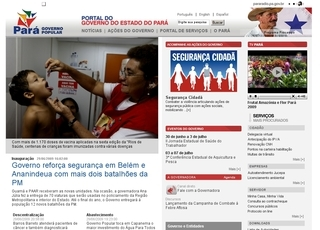 Thumbnail do site Governo do Estado do Pará