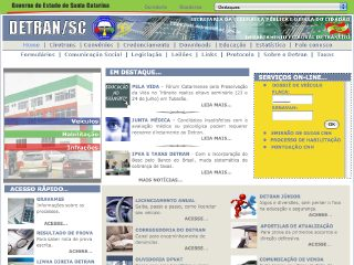 Thumbnail do site DETRAN - Santa Catarina