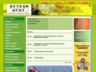 Thumbnail do site DETRAN - Acre