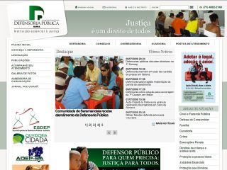 Thumbnail do site Defensoria Pública do Estado da Bahia
