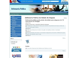 Thumbnail do site Defensoria Pública do Estado de Alagoas