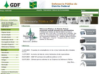 Thumbnail do site Defensoria Pública do Distrito Federal