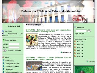 Thumbnail do site Defensoria Pública do Estado do Maranhão