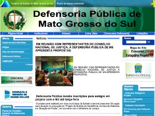 Thumbnail do site Defensoria Pública do Estado do Mato Grosso do Sul