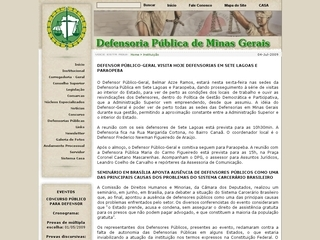 Thumbnail do site Defensoria Pública do Estado do Minas Gerais