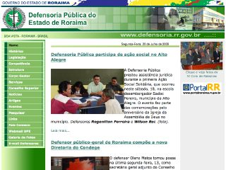 Thumbnail do site Defensoria Pública do Estado de Roraima
