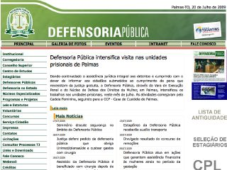 Thumbnail do site Defensoria Pública do Estado do Tocantins