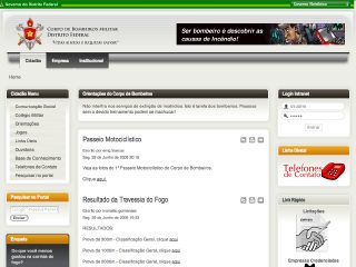 Thumbnail do site Corpo de Bombeiros Militar do Distrito Federal