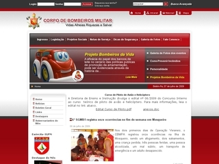 Thumbnail do site Corpo de Bombeiros Militar do Pará