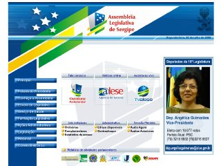 Thumbnail do site Assembléia Legislativa do Estado de Sergipe