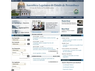 Thumbnail do site Assembleia Legislativa do Estado de Pernambuco