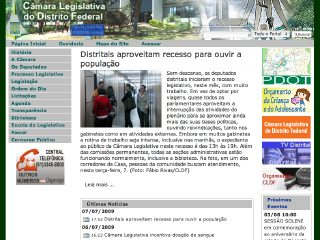 Thumbnail do site Câmara Legislativa do Distrito Federal