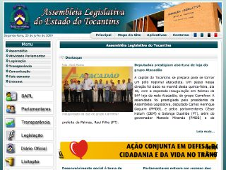 Thumbnail do site Assembléia Legislativa do Estado do Tocantins