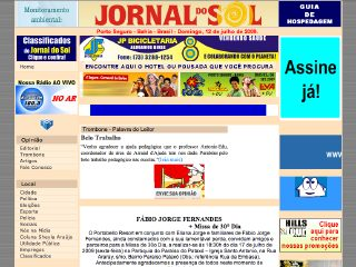 Thumbnail do site Jornal do Sol on line