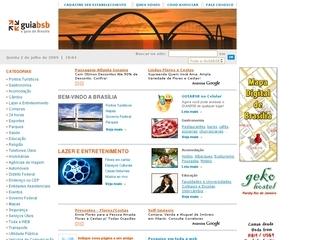 Thumbnail do site GUIABSB - O guia de Brasília e Distrito Federal