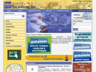 Thumbnail do site SENAC - Centro de Formação Profissional Aquidabã