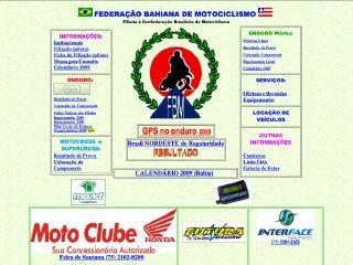 Thumbnail do site F.B.M. - Federação Bahiana de Motociclismo