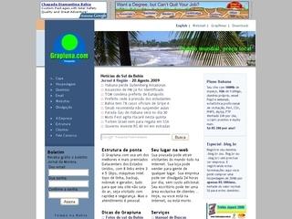 Thumbnail do site Grapiuna.com - hospedagem, dominios, websites