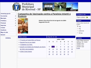 Thumbnail do site Prefeitura Municipal de Riversul