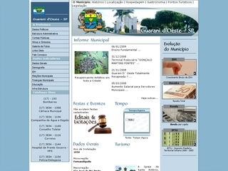 Thumbnail do site Prefeitura Municipal de Guarani d