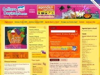 Thumbnail do site Cultura Capixaba.com: o melhor do Espírito Santo!