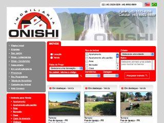 Thumbnail do site Imobiliária Onishi