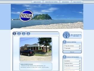 Thumbnail do site Efetiva Imóveis