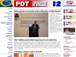 Thumbnail do site Partido Democrático Trabalhista (PDT)